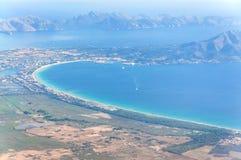 Взгляд залива Alcudia Стоковое фото RF