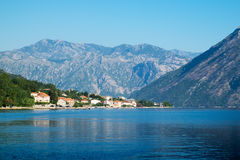 Взгляд залива Kotor около Stoliv Стоковая Фотография RF