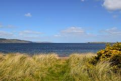 Взгляд залива Rosemarkie в Шотландии Стоковые Изображения RF