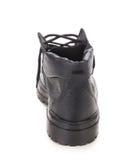 Взгляд задней части ботинка зимы черный Стоковая Фотография