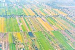 Взгляд земли от окна самолета Стоковая Фотография RF