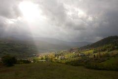 Взгляд зеленых холмов Стоковое Изображение