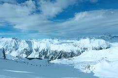 Взгляд зимы Silvretta Альпов (Австрия) Стоковая Фотография