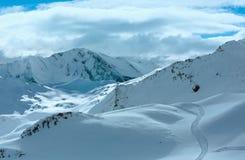Взгляд зимы Silvretta Альпов (Австрия) Стоковое Фото