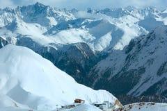 Взгляд зимы Silvretta Альпов (Австрия) Стоковые Изображения RF