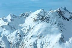 Взгляд зимы Silvretta Альпов (Австрия) Стоковое Изображение RF