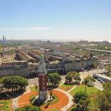 Взгляд зоны Retiro Буэноса-Айрес. Стоковое фото RF