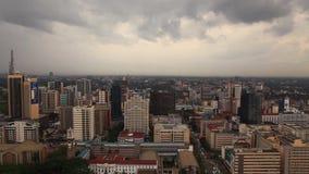 Взгляд зданий и движения в Найроби Кения акции видеоматериалы