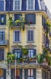 Взгляд здания в Турине Пьемонте, Италии Стоковое фото RF