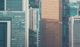 Взгляд здания и неба небоскреба Стоковое Фото
