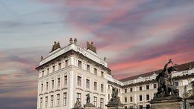 Взгляд здания президента республики в Праге, чехии Стоковая Фотография