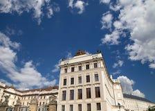 Взгляд здания президента республики в Праге, чехии Стоковые Фотографии RF