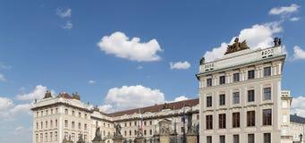 Взгляд здания президента республики в Праге, чехии Стоковое Изображение