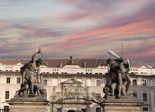 Взгляд здания президента республики в Праге, чехии Стоковое фото RF