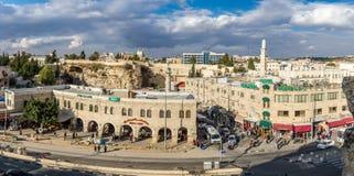 Взгляд Иерусалима от старой стены города, Израиля Стоковая Фотография RF