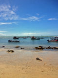 Взгляд известного пляжа пипы - для сети Стоковые Фото