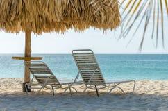 Взгляд изображения принятого от пляжа орла, Аруба стоковое изображение rf