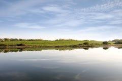 Яркий пасмурный взгляд на лимане Шеннона стоковое фото rf