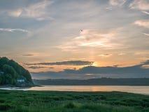 Взгляд лимана Taf приливного на красивом восходе солнца стоковые изображения
