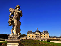 Взгляд имущества Vaux-le-Vicomte Стоковое Изображение RF