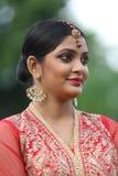 Взгляд индийской девушки bridal стоковая фотография rf