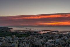 Взгляд испанского городка панорамный стоковое изображение rf