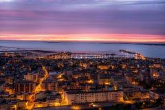 Взгляд испанского городка панорамный стоковое фото rf