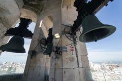 Взгляд исторического центра Кадиса от взятия колокольни внутри Стоковое Изображение