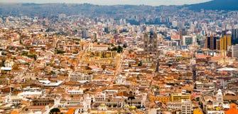 Взгляд исторического центра Кито, эквадора стоковая фотография