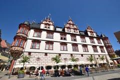 Взгляд исторической рыночной площади в Кобурге, Германии Стоковое Изображение RF