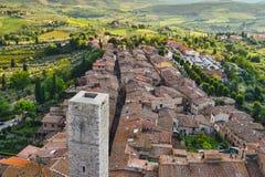 взгляд Италии san Тосканы gimignano стоковое фото