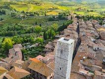 взгляд Италии san Тосканы gimignano стоковая фотография rf