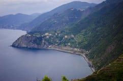 Взгляд итальянской горы Риджа в расстояние Стоковое Изображение