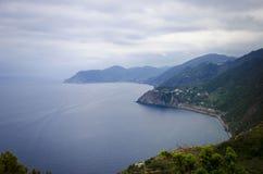 Взгляд итальянской горы Риджа в расстояние Стоковая Фотография