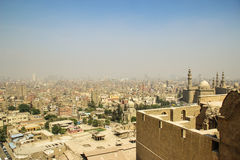 Взгляд Каира с максимумом стоковое фото