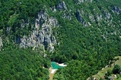 Взгляд каньона реки Тары в Черногории Стоковое Изображение RF