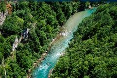 Взгляд каньона реки Тары Стоковое Изображение