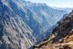 Взгляд каньона Colca Стоковое Изображение