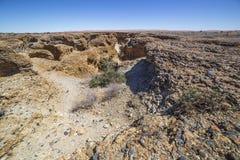 Взгляд каньона Sesriem, Намибии Стоковое Изображение RF