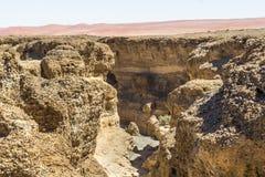 Взгляд каньона Sesriem, Намибии Стоковые Фотографии RF