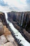 Взгляд каньона Victoria Falls Стоковые Фотографии RF