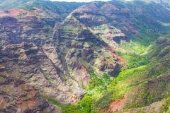 Взгляд каньона Waimea сверху стоковое изображение