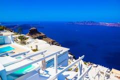 Взгляд кальдеры Imerovigli, Santorini, Греция Стоковые Фотографии RF
