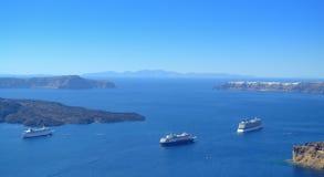 Взгляд кальдеры, Santorini, Греции Стоковое Изображение RF