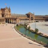 Взгляд квадрата Испании, Севильи, Испании Стоковое фото RF