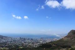 Взгляд Кейптауна от национального парка горы таблицы Стоковое Изображение RF