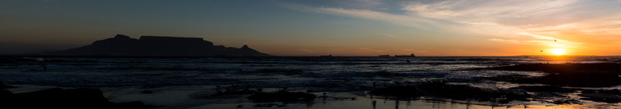 Взгляд Кейптауна панорамный стоковое фото rf