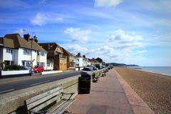 Взгляд Кент Великобритания набережной Hythe сценарный стоковая фотография rf