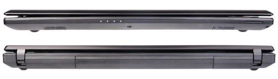 Взгляд компьтер-книжки спереди и сзади Стоковое фото RF