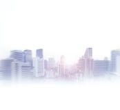 Взгляд конспекта Бангкока владение домашнего ключа принципиальной схемы дела золотистое достигая небо к Стоковая Фотография